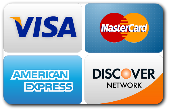 We Accept These Credit Cards For Payment At Ross Reporting Services